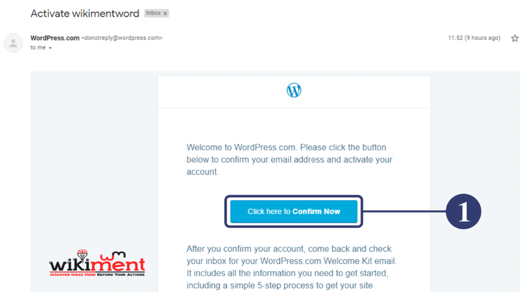 WordPress Com Mail Verification