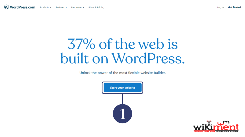 WordPress Com Start A Website